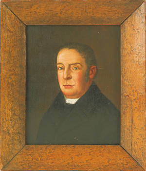 English oil on panel portrait of a gentleman