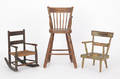 Three painted childs chairs