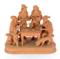 Italian redware figural group