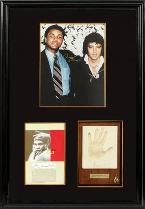 MUHAMMAD ALI AUTOGRAPHED PHOTOGRAPH COLLAGE