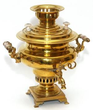 RUSSIAN BRASS SAMOVAR C 1900