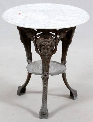 FRENCH MARBLETOP CAFE TABLE C 1900