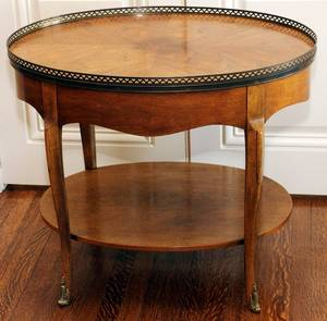 BAKER FURNITURE CO WALNUT OVAL TABLE