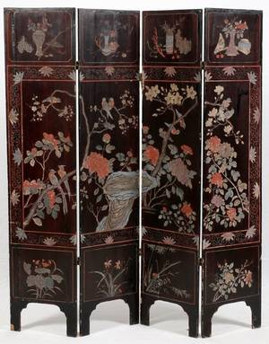 CHINESE COROMANDEL FOURPANEL SCREEN