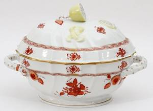 HEREND CHINESE BOUQUETRUST PORCELAIN TUREEN
