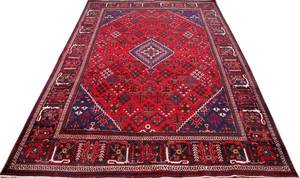 PERSIAN BIJAR WOOL RUG SEMIANTIQUE