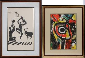 AFTER PICASSO  AFTER MIRO LITHOGRAPHS 2