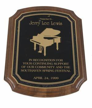JERRY LEE LEWIS CERTIFICATES OF APPRECIATION