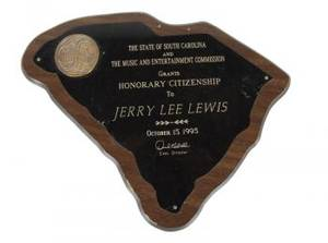 JERRY LEE LEWIS GOVERNMENT RECOGNITION AWARDS