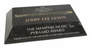JERRY LEE LEWIS MEMPHIS TENNESSEE PLAQUES