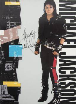 MICHAEL JACKSON SIGNED BAD PROGRAM