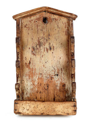 Continental painted pine pipe rack 19th c