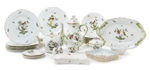 A Herend Porcelain Partial Dinner Service
