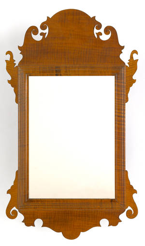 American Chippendale mahogany mirror