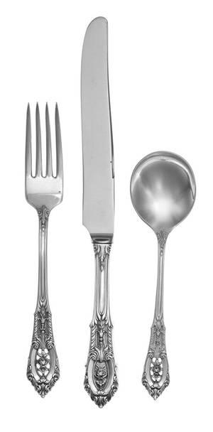 An American Silver Flatware Service