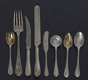 Tiffany  Company sterling silver Flemish pattern flatware service