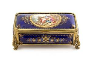 A French Enameled Copper Casket