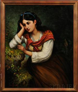 Oregon Wilson American 18451873 Young Woman in Reverie