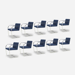 Ludwig Mies van der Rohe   Brno chairs from The Four Seasons set of ten
