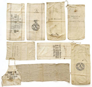 Pennsylvania stenciled feed bags