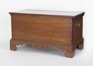 Miniature Pennsylvania walnut blanket chest 19th c