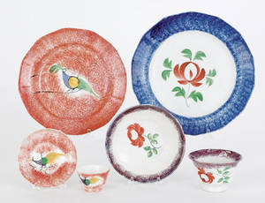 Collection of spatter 19th c