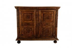 Renaissance Revival Style Oak Cabinet