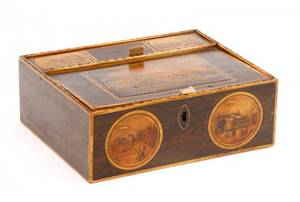 English Souvenir or Trinket Box of London 19th C