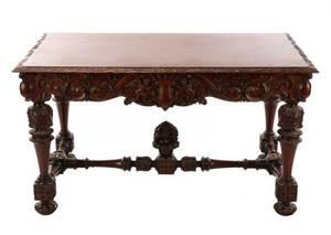 Renaissance Revival Style Mahogany Library Table