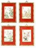 Series of 4 Chinese Porcelain Plaques Marked