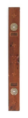 Parquetry inlaid mahogany level