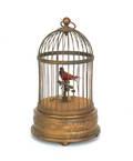 French bird cage music box
