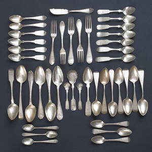 Collection of Philadelphia coin silver spoons by Richardson