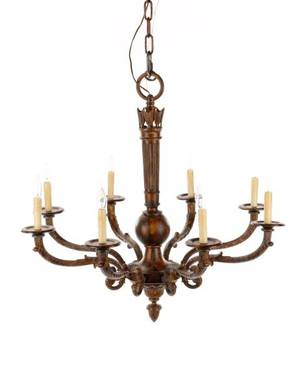 Louis XVI Style 8 Light Quiver  Arrow Chandelier