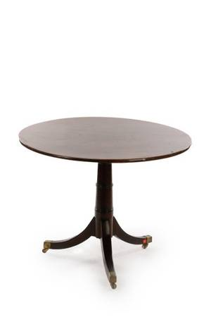 English Round Mahogany Tilt Top Table 19th C