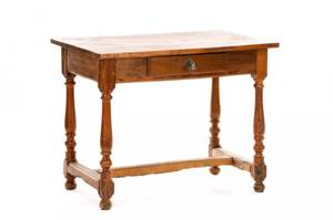 French Provincial Single Drawer Table 19th C