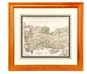 Seutter Hand Colored Map Asia Minor 18th C