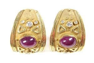 18K yellow gold clip earrings