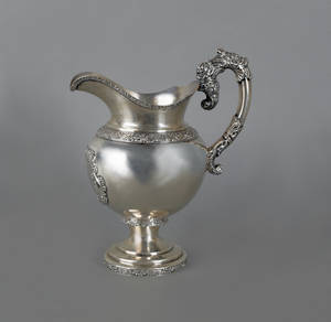 New York coin silver pitcher ca 1830