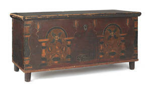 Berks County Pennsylvania painted dower chest late 18th c