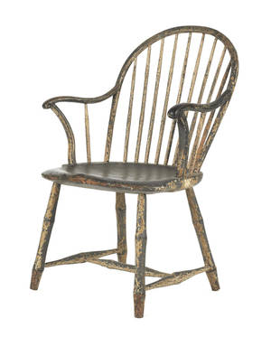 Philadelphia bowback Windsor chair attributed to the workshop of John Letchworth ca 1800