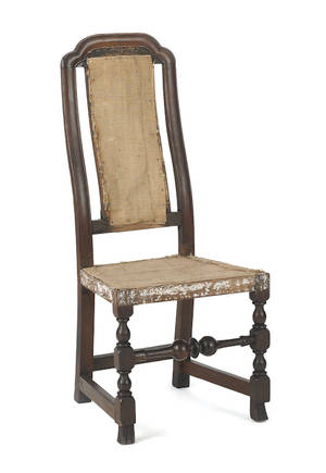 Boston Massachusetts William  Mary maple dining chair ca 1735