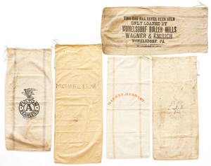 Group of Pennsylvania stenciled feed bags