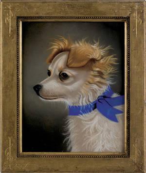 Pastel dog portrait late 19th c