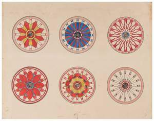 Original Circus Wagon Wheel Designs Artist unknown