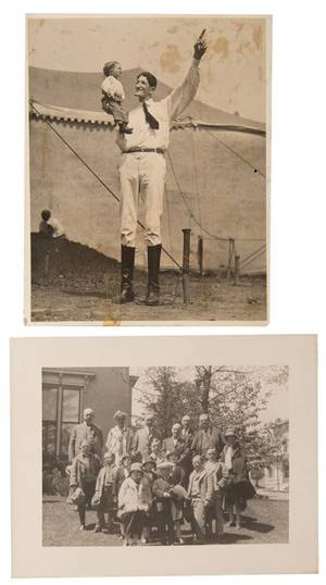 Group of Four Sideshow Photographs Circa 1920s  40s