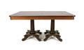 Empire mahogany double pedestal dining table base