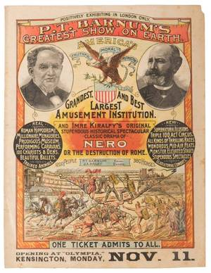 PT Barnums Greatest Show on Earth Nero or the
