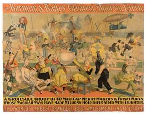 Barnum and Bailey Greatest Show on Earth A Grotesque