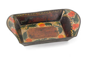 Tole bread tray 19th c